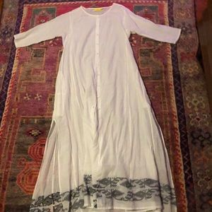 Roller Rabbit long kurta tunic dress, XS